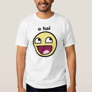 o hai awesome smiley tshirt