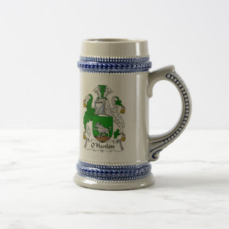 O Hanlon Coat of Arms Stein - Family Crest