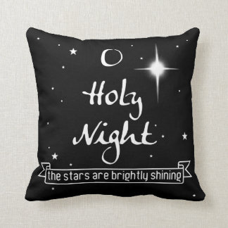 "O Holy Night 16"" x 16"" Holiday Throw Pillow"