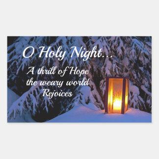 """O Holy Night"" Beloved Christmas Carol Rectangular Sticker"