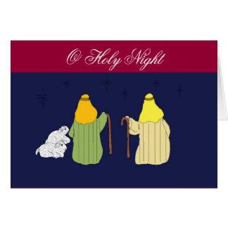 O Holy Night - Christmas Greeting Card