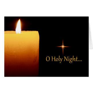 O Holy Night Christmas Greeting Card