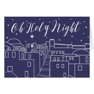O Holy Night Christmas Religious Christian Greeting Card