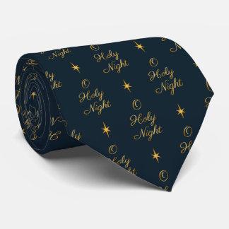 O Holy Night Navy & Gold Tie