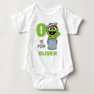 O is for Oscar the Grouch | Add Your Name Baby Bodysuit