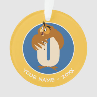 O is for Owl | Add Your Name Ornament