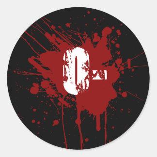 O Negative Blood Type Donation Vampire Zombie Round Sticker