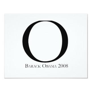 O: Obama for President T-shirt Invite