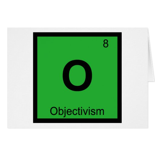 O - Objectivism Philosophy Chemistry Symbol Greeting Cards
