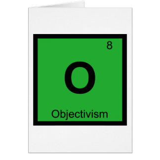 O - Objectivism Philosophy Chemistry Symbol Card