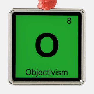 O - Objectivism Philosophy Chemistry Symbol Christmas Tree Ornaments