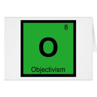 O - Objectivism Philosophy Chemistry Symbol Greeting Card