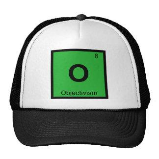 O - Objectivism Philosophy Chemistry Symbol Trucker Hat