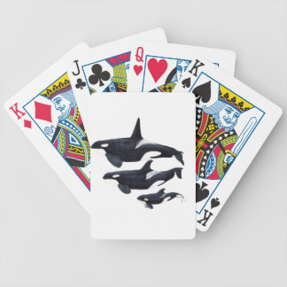 O.orca-fond transparent bicycle playing cards
