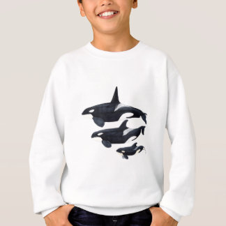 O.orca-fond transparent sweatshirt
