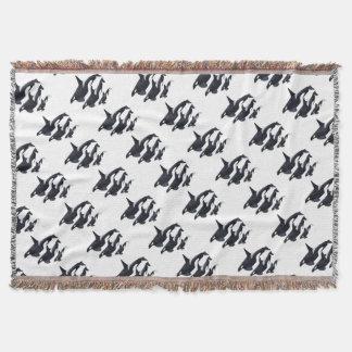 O.orca-fond transparent throw blanket