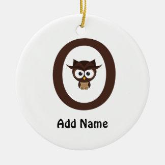 O - Owl Christmas Ornaments