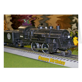 O Scale Model Train - Happy Birthday Card