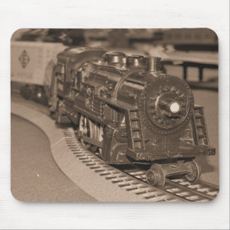 O Scale Model Train - Sepia Tone Mouse Pad