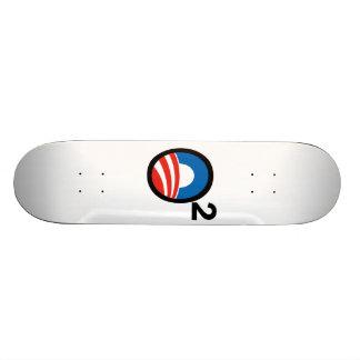 O Squared Obama's Second Term Custom Skateboard