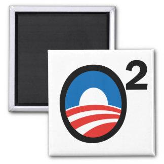 O Squared Obama's Second Term Square Magnet