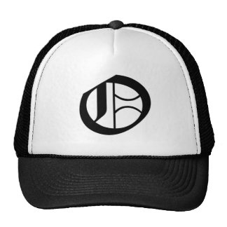 O-text Old English Trucker Hat