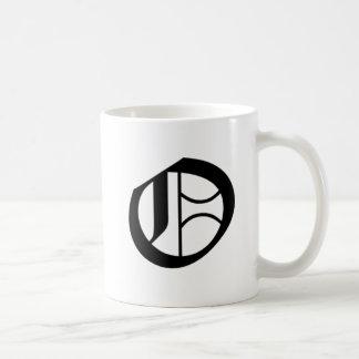 O-text Old English Mug