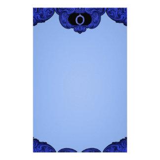O - The Falck Alphabet (Blue) Stationery Design