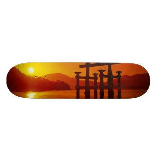 O-Torii Gate, Itsukushima shrine, Miyajima, Skateboard