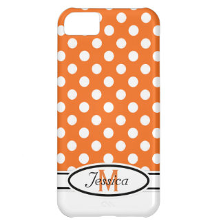 O & W Polka-dot Monogram  iPhone 5 Case