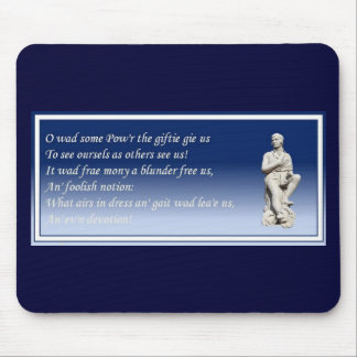 O Wad Some Pow'r The Giftie Gie Us Mouse Pad