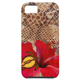 Oahu Hawaii Hibiscus on Snakeskin Tough iPhone 5 Case