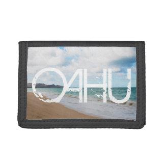 Oahu Hawaii Ocean Waves & Beach Tri-fold Wallet