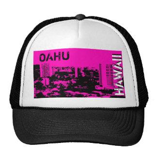 Oahu Hawaii pink city design scenic punk hat