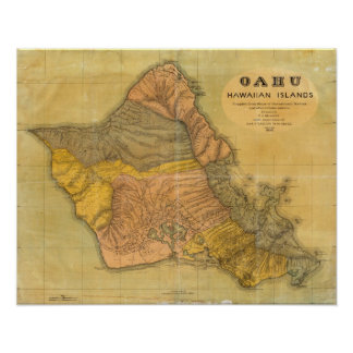 Oahu, Hawaiian Islands Poster