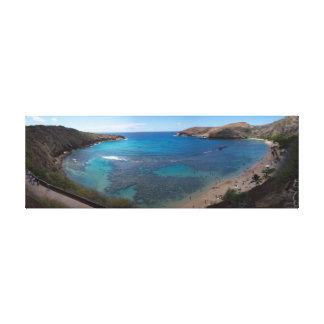 Oahu Ocean Panoramic Canvas Print