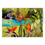 Oahu Pineapple Plantation Pond Greeting Card