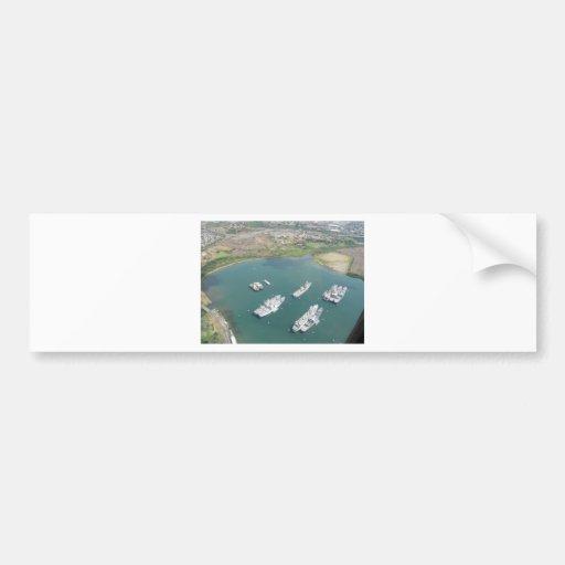 O'ahu - ships bumper sticker