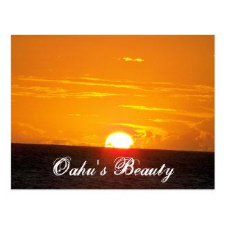 Oahu's Beauty Postcard
