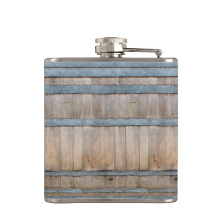 oak barrel pattern flask