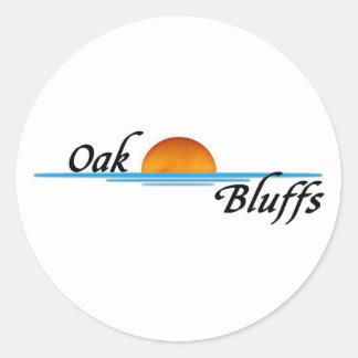 Oak Bluffs Round Sticker