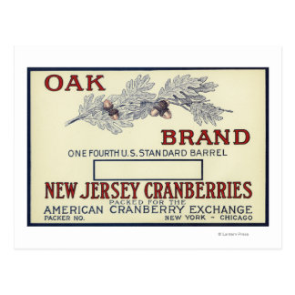 Oak Brand Cranberry Label Postcard