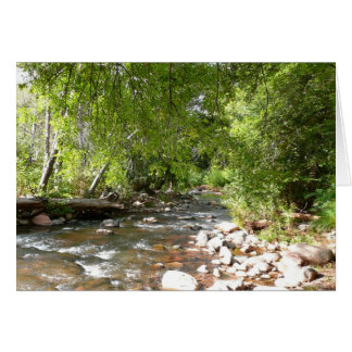 Oak Creek II in Sedona Arizona Nature Photography Card