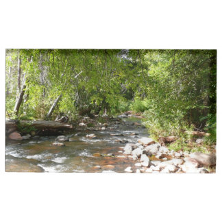 Oak Creek II in Sedona Arizona Nature Photography Table Card Holder
