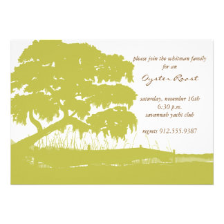 Oak Draped with Spanish Moss by the Marsh Invite