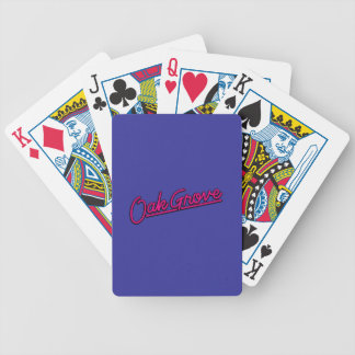 Oak Grove in magenta Poker Deck