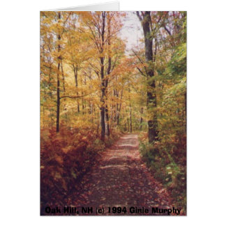 """Oak Hill in the Fall, Loudon, NH"" Card"