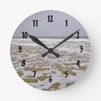Oak Island Shores Along North Carolina Round Clock