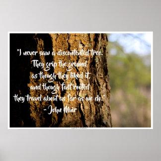 Oak John Muir Quote Poster