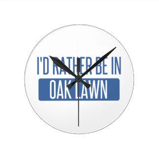 Oak Lawn Round Clock